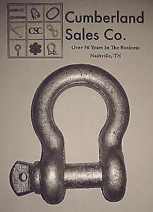 Galvanized Steel Screw Pin Bow Shackle 3 16 Wll 1 3 Ton