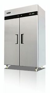 Migali Commercial 2 Door Freezer Reach In Nsf 49 Cu ft Free Shipping