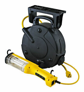 Industrial Fluorescent Retractable Cord Reel Trouble Work Light 8050a q