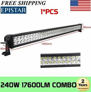 42 in 240w Led Work Light Bar Combo Offroad Bumper Roof Bull Truck Boat 40 44