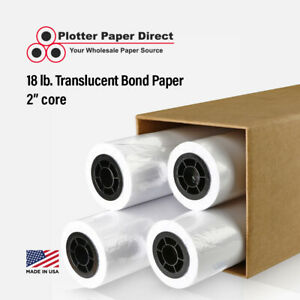 4 Rolls 36 X 150 18lb Translucent Bond Paper For Wide Format Inkjet Printers