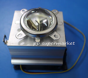 20w 30w 50w 100w Led Aluminium Heat Sink Cooling Fan 90 120degree 44mm Lens Kit