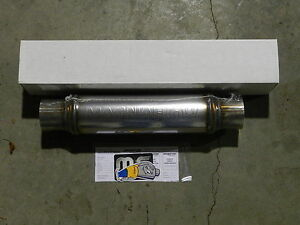 New Magnaflow Universal Stainless Steel Muffler 14419 3 Inlet Outlet Fast Ship