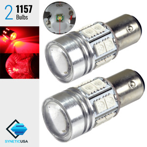 2x 1157 High Power Cree Red Brake Stop Tail Led Light Bulbs 2057a 2357na 7528