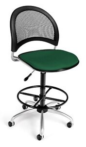 Medical Office Task Chair In Forest Green Fabric W drafting Stool Lab Stool