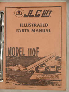 Jlg Parts Manual 110f Aerial Lift Manlift