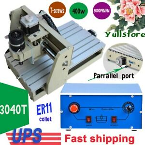 Diy 3 Axis 3040 Cnc Router Engraver 3d Engraving Drilling Milling Machine 400w