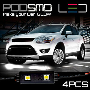 Neon Accent Under Car Rock Led Lights Kit Underbody White Glow For Chevy Equinox