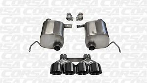Corsa 2014 Chevrolet Corvette 6 2l V8 C7 Stingray Xtreme Exhaust System Black