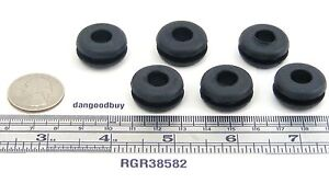 100 Rubber Grommets 3 8 Inner Diameter Fits 5 8 Panel Hole
