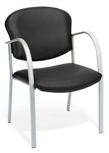 Anti bacterial Black Vinyl Medical Office Guest Seating Side Chair clinic Chair