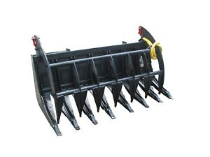 Bobcat E series 66 Root Rake Grapple Skidsteer Attachment Free Shipping