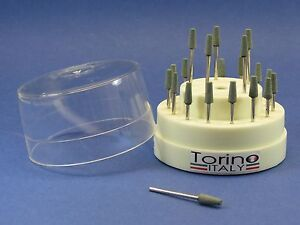 Dental Lab Burs Hp Acrylic Conical Trunk Kit 20 Pcs Burs Block Torino