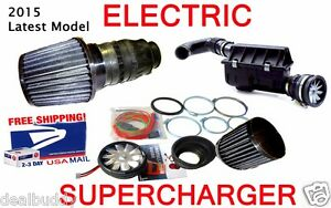 Electric Turbo Cold Air Intake Power Supercharger Fan Kit Nismo Style For Nissan