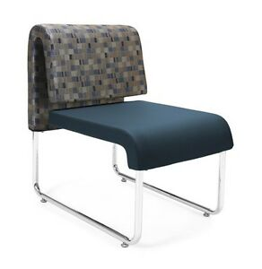 Uno Series Navy Bluejay Anti microbial bacterial Office Reception Lounge Chair