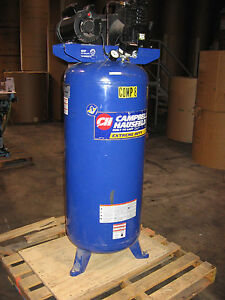 Used Campbell Hausfeld Extreme Duty Cast Iron 60 Gal Air Compressor Vt619503aj