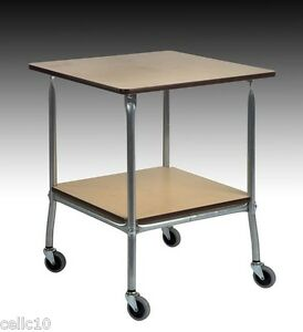 High Quality Steel Service Cart With Hardboard Top Made In The Usa Ez45 Ez 45