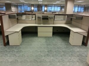 8 Stations Used Herman Miller Ethospace Cubicles Priced To Sell