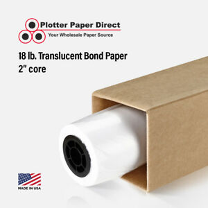 4 Rolls 30 X 150 18lb Translucent Bond Paper For Wide Format Inkjet Printers