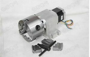 Cnc Router Rotational Axis 4th Axis A Axis 3 jaw 100mm Chuck Gear Box 50 1