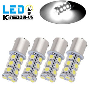 4 X White 1156 Ba15s 18smd 5050 Led Light Bulbs Turn Signal Backup Reverse 1141