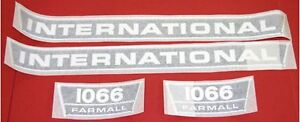International 1066 Vinyl Decal Set