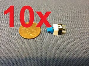 10 Pieces 6 Pin Latching 7x7mm Mini Tactile Push Button Switch On off Dip C14