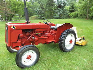 Intern Ation 2444 Tractor With Woods 6 Mower live Pto Hdy Three Point Hitch