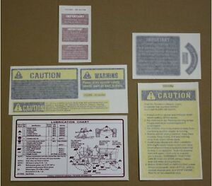 International 786 886 986 1086 1486 1586 Chassis Vinyl Decal Package