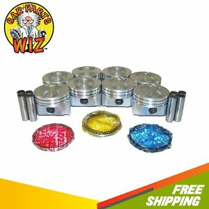Pistons And Rings Fits 86 96 Ford 5 0l V8 Ohv 16v Cu 302 Vin D E F M T N Y