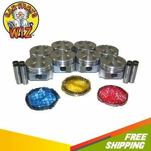Pistons And Rings Fits 63 89 Ford 4 7l 5 0l V8 Ohv 16v Cu 289 302