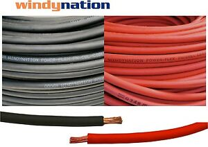 150 4 Awg Welding Cable 75 Red 75 Black Gauge Copper Wire Battery Solar Lead