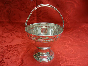 Vintage Sweet Meat Sterling Basket Or Bowl With Handle By D H Dominick Haff