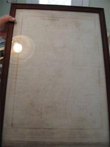 Very Old Hamden Connecticut Map Framed