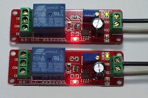 2pcs 12 Vdc Adjustable On Delay Time 0 To 10 Seconds 10 Amp Relay Board Usa
