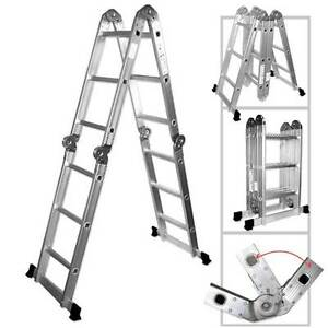 12 5 Ft Heavy Duty Multi Purpose Aluminum Ladder Folding Step Scaffold Extenda