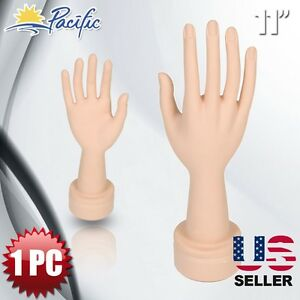 Mannequin Movable Flexible Hand Display Jewelry Bracelet Nail Ring Holder Right