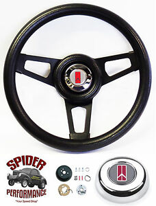 1964 1966 Cutlass 442 F85 Steering Wheel 13 3 4 Black Spoke