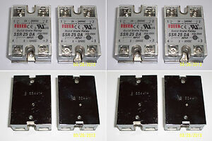 4 Pcs 24 380 Vac 25 Amp Solid State Relay 3 32 Vdc Input Brand New