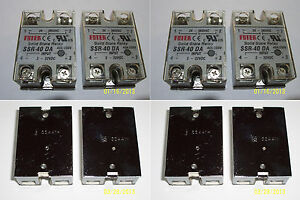 4 Pcs 24 380 Vac 40 Amp Solid State Relay 3 32 Vdc Input Brand New
