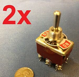 2 Pieces Red Dpdt Momentary Switch On off on Motor Reverse 30dash Car Truck Ba