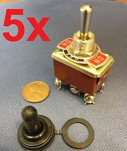 5 Pieces red Dpdt Momentary Switch On off on Toggle Heavy Duty Snow Blower