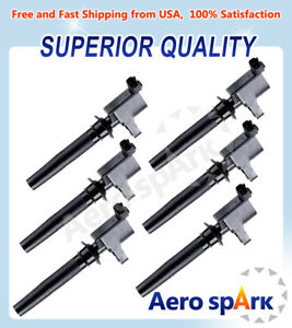 Fd502 Set Of 6 Ignition Coil For Mercury Mariner Montego Sable Ford Escape 3 0