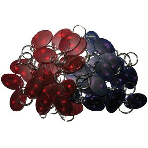 100pcs 125khz Rfid Em Proximity Induction Tag Token Keyfob Mini Mango Red Blue