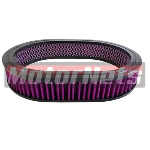 12 Oval Washable reusable Air Cleaner Filter Element Sbc Bbc Chevy 350 454 Ford