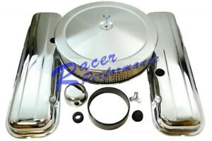 Chrome Bbc Big Block Chevy Engine Dress Up Kit Air Cleaner Short 396 427 454 502