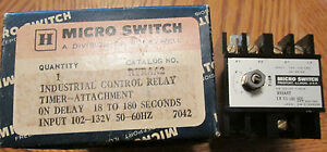 New Nos Micro Switch Ryraa2 On Delay Timer Industrial Control Relay 102 132v