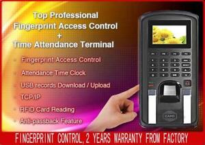 Biometric Fingerprint Access Control door Control And Employee Time Attendance