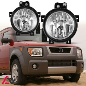 03 06 For Honda Element Clear Lens Pair Bumper Fog Light Lamp Oe Replacement Dot