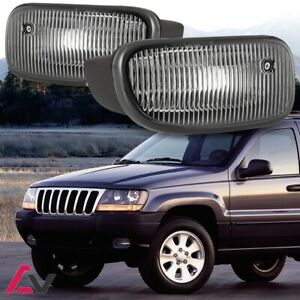 99 03 For Jeep Grand Cherokee Clear Lens Pair Bumper Fog Light Oe Replacement